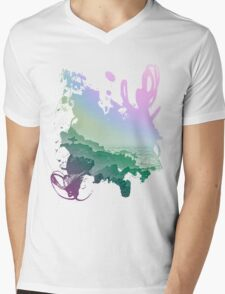 Fistral cliffs REDUX Mens V-Neck T-Shirt