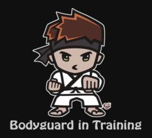 Martial Arts/Karate Boy - Bodyguard (gray font) Kids Tee