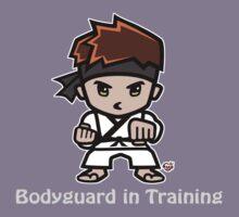 Martial Arts/Karate Boy - Bodyguard (gray font) Kids Tee