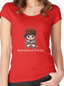 Martial Arts/Karate Boy - Bodyguard (gray font) Women's Fitted Scoop T-Shirt