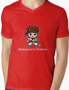 Martial Arts/Karate Boy - Bodyguard (gray font) Mens V-Neck T-Shirt
