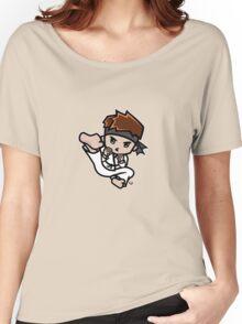 Martial Arts/Karate Boy - Jumpkick Women's Relaxed Fit T-Shirt