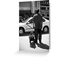 Have you ever noticed that some people look like their dog? Greeting Card