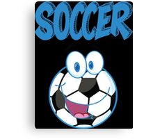 soccer game design t-shirt Canvas Print