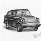 Ford Anglia - Classic Car by BigBlue222