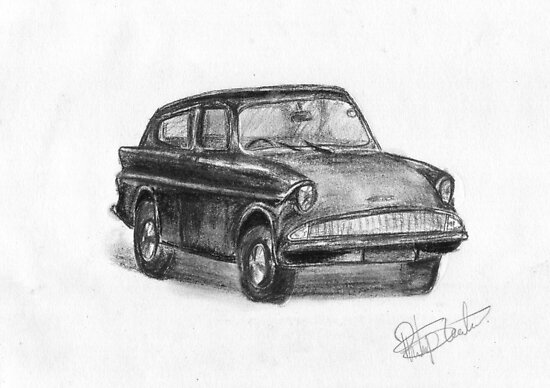 Ford Anglia - Classic Car by BigBlue222