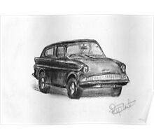 Ford Anglia - Classic Car Poster