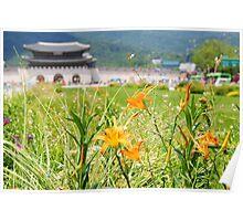 Seoul Flowers Poster