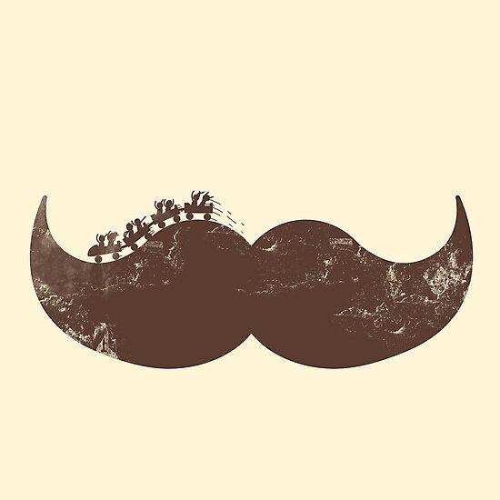 mustache ride  by Jonah Block