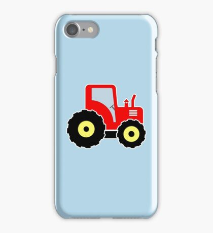 Red toy tractor iPhone Case/Skin