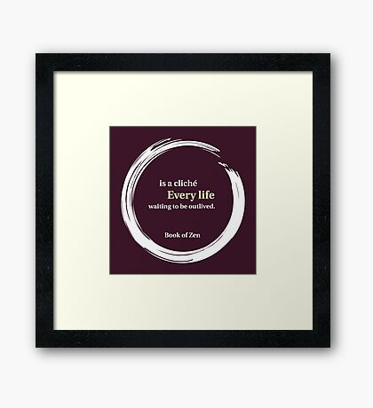 Inspirational Destiny & Life Quote Framed Print