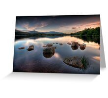 Loch Morlich - Sunset, Scotland Greeting Card