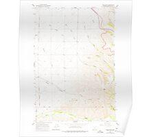 USGS Topo Map Oregon Table Rock 281737 1966 24000 Poster