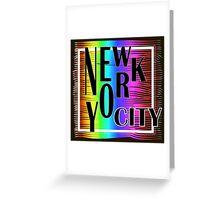 New York typography Greeting Card
