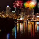 Pennsylvania. Philadelphia. Independence Day Fireworks. by vadim19
