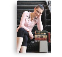 A Bookish Chuckle Canvas Print