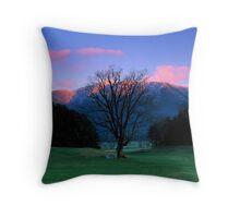 WINTER SUNSET,CADES COVE* Throw Pillow