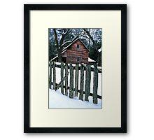 TIPTON PLACE,WINTER Framed Print