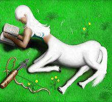 Centauress Taking a Reading Break by Kaboodle's Kreations
