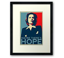 Scully: Maybe There's Hope Framed Print