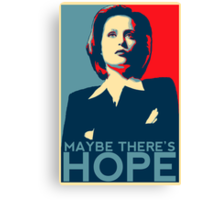 Scully: Maybe There's Hope Canvas Print