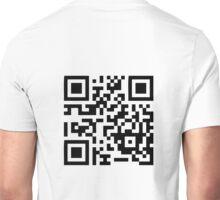 """""""Stop scanning my shirt!"""" QR-code Unisex T-Shirt"""