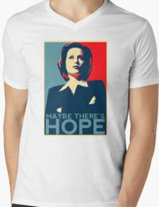 Scully: Maybe There's Hope Mens V-Neck T-Shirt