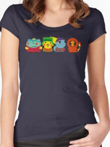Pokemon of South Park Women's Fitted Scoop T-Shirt