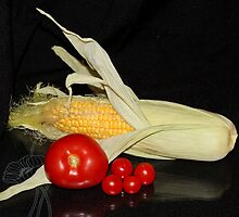 Corn & Tomatoes by AnnDixon