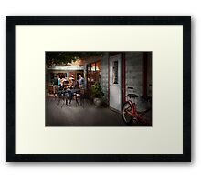 Storefront - Frenchtown, NJ - At a quaint Bistro  Framed Print