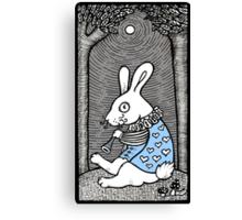 White Rabbit Fanfare Canvas Print