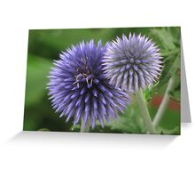 """Blue Orb Flowers"" Greeting Card"