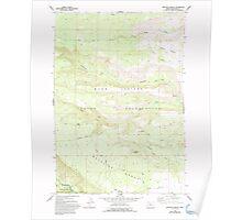USGS Topo Map Oregon Metolius Bench 280732 1962 24000 Poster