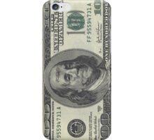 If Benjamin Franklin was a thug - 100 Dollar Bill iPhone Case/Skin