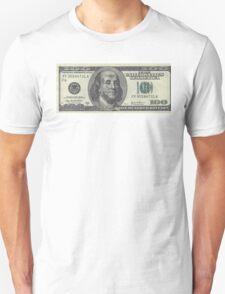 If Benjamin Franklin was a thug - 100 Dollar Bill T-Shirt