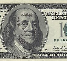 If Benjamin Franklin was a thug - 100 Dollar Bill by IMadeUReadThi