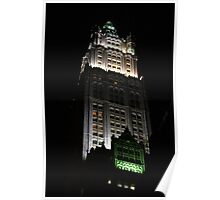 the Woolworth Building - NYC Night Architecture Poster