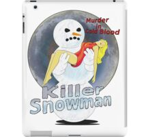 killer snowman iPad Case/Skin