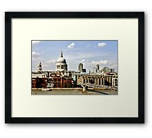 St. Paul's Cathedral and Millenium Bridge #1 Framed Print
