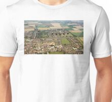 BBMF Lancaster and Hurricane over Bourne, Lincs Unisex T-Shirt