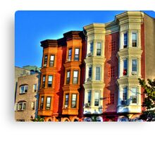 old Brownstone architecture of Brooklyn  Canvas Print