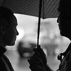 Sharing an Umbrella   by Yulia Manko