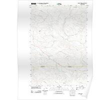 USGS Topo Map Oregon Sunset Spring 20110907 TM Poster