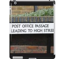 Post Office Passage sign, Hastings iPad Case/Skin