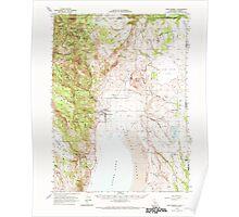 USGS Topo Map California Fort Bidwell 297485 1962 62500 Poster