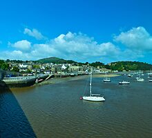 Conwy Harbour and Castle by Yukondick