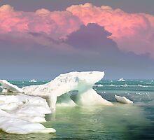 Ice At Sunset by Igor Zenin