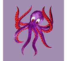 cute funny octopus Photographic Print