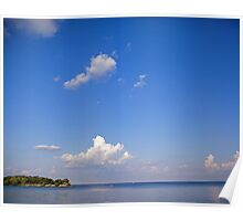 Blue Skies over Lake Ontario Poster