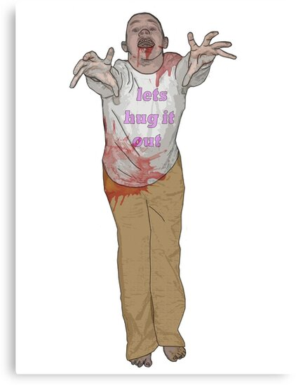 hug it out zombie by IanByfordArt